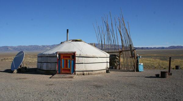 Mongolische Hütte