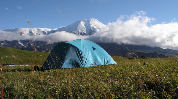 Kamtschatka Halbinsel Zeltlager