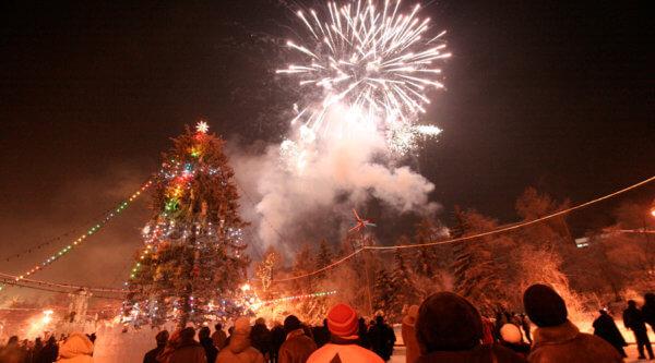 Feuerwerk am Baikalsee