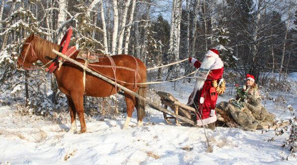 Weihnachtsmann am Baikalsee
