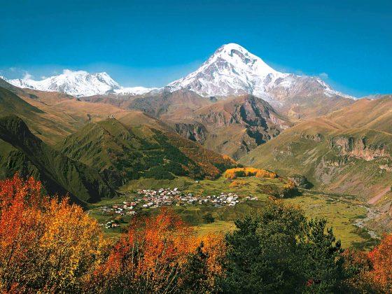 Sagenhaftes Georgien Berglandschaft Slider