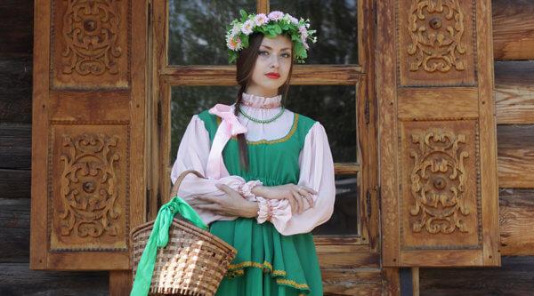 Einwohnerin Transsibirien