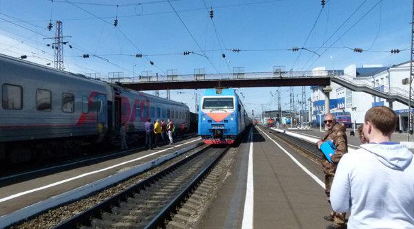 Transsib Bahnhof