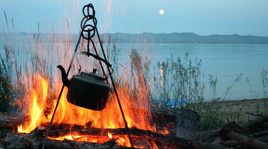 Lagerfeuer am Baikalsee