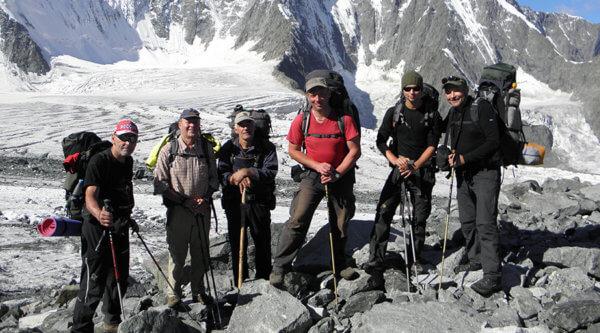 Trekkingteam goldenes Gebirge