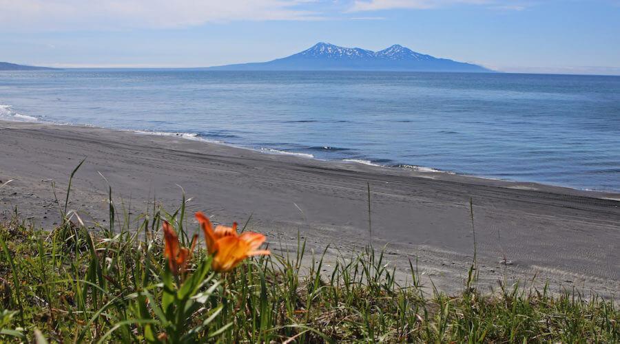 Kurilen Strand und Meer