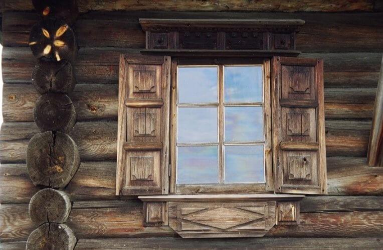 Holzhaus in Karelien bei Kischi
