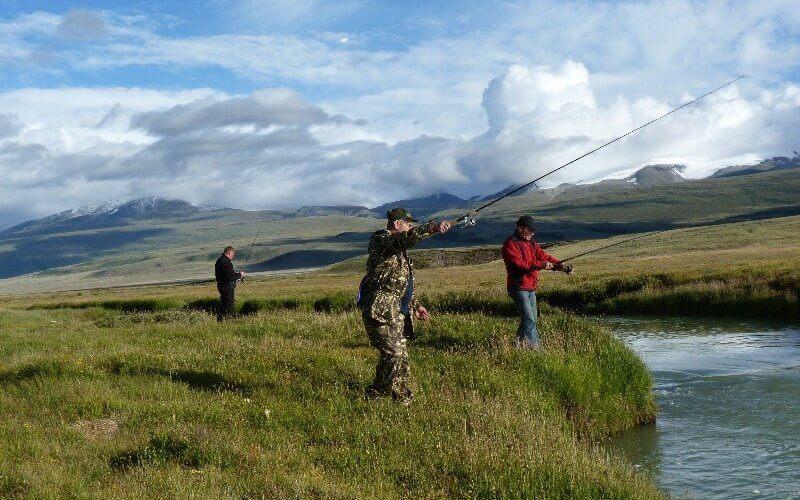 Angler im Altai