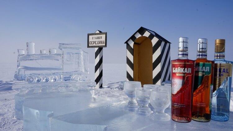 Station auf dem Eis