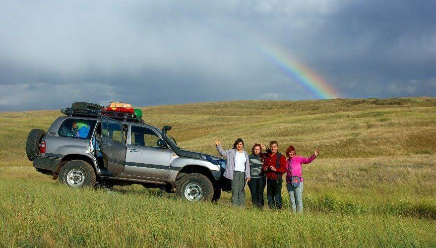Reisende im Altai-Gebirge