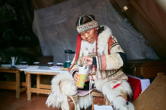 russische Schamanin in Norilsk
